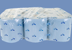 1 Pallet of Premium Blue Embossed 2ply Centrefeed Paper Roll