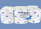 1 pallet of Premium Mini-Jumbo Toilet Rolls 60mm & 76mm core