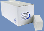 "1 Pallet of Z-fold White ""Premium"" 2ply Paper Hand Towel"